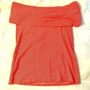 Red\White Stripe Off the Shoulder